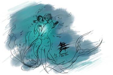 Merman!Rochu - Dance by Saya2pt0