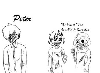 Peter and The Forest Twins Sketches by CoveragePuns