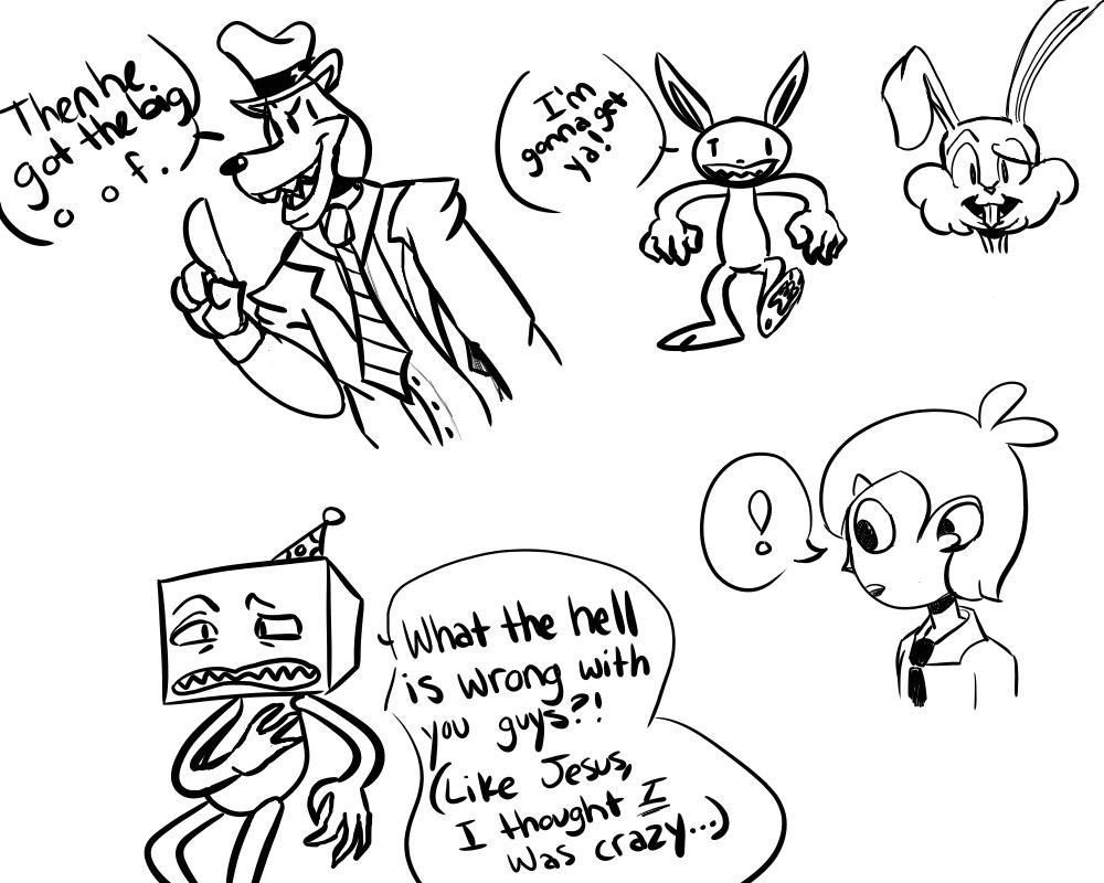 Some crappy drawings I did based off of Wisc by CoveragePuns