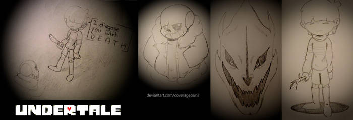 Undertale Doodles by CoveragePuns