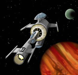 Interplanetary Cruiser  by MatthewNorth