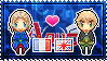 APH: France x England Stamp by xioccolate