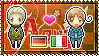 APH: Germany x North Italy Stamp by xioccolate