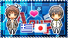 APH: Greece x Japan Stamp by xioccolate