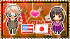 APH: America x Fem!Japan Stamp by xioccolate
