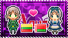 APH: Lithuania x Belarus Stamp by xioccolate