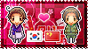 APH: South Korea x China Stamp by xioccolate