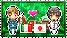 APH: North Italy x Japan Stamp by xioccolate