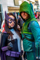 NYCC 2013 - Green Arrow and Huntress by SpideyVille