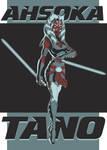 Ahsoka Tano - color palette challenge by MelHell84