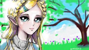 BOTW Zelda by NIN-Neko