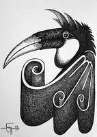 Sketchbook 12 Hornbill by Jose-Garel-Alvoeiro