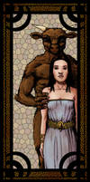 Tatjana And The Minotaur by Wandermaske