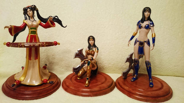 Sivir and Sona figures (Complete work) by Lanasu57