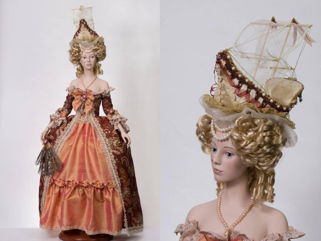 Lady with hat-boat (rococo style) by Lanasu57