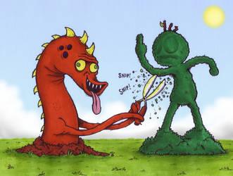Simon the Topiarian Monster by Splapp-me-do