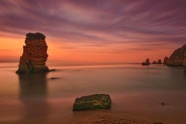 Sunrise Behind the Rock by Rykardo