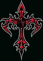 Moonfire Tribal Cross by Rayfire