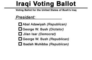 Iraqi Voting Ballot by Rayfire