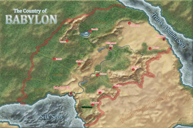 Map of a nation in the fictive world of Kymlun by GLoRToR