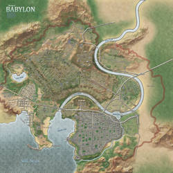 Map of a city in the fictive world of Kymlun by GLoRToR