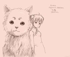 gintama-kagura sadaharu sketch by Gin-Uzumaki