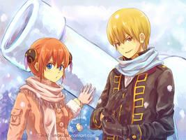 GINTAMA- Happy BD Sougo theme competition-Winter by Gin-Uzumaki