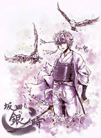 GINTAMA-Gintoki the snowy owl by Gin-Uzumaki
