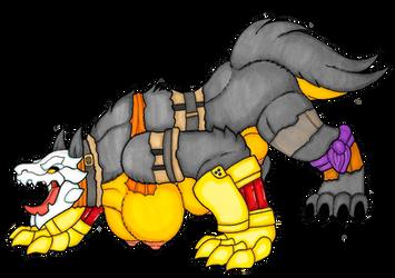 A Grimm Fate - Yang Grimm Werewolf TF - by IvanksMW