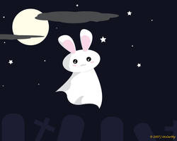 Ghost Bunny by creampuf
