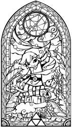Wind Waker Glass Church Window by Cetanu12