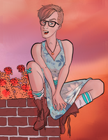 Hipster Chick by Tom-the-S