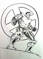 Colossus Sketch by RobWSales