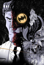 Batman and Two-Face! by RobWSales