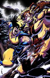 Wolverine and Sabretooth by RobWSales
