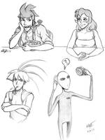 Trying Human sketches by yorikitsune