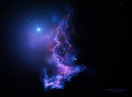 Hunter's Nebula by Ali Ries 2018 by Casperium