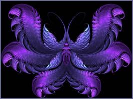 Papillon cerulea by Casperium
