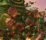 Mysteries of the Mandelbulb Forest by WildWanderinGirl