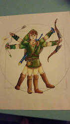 Vitruvian Link tattoo design by Purpleninja79