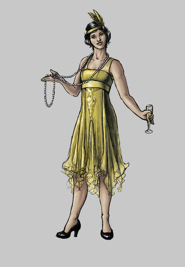 Character/Costume design1: Flapper by EricaLange