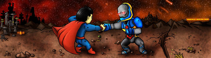 Superman vs Darkseid by JoCoH