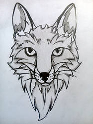 Fox tattoo line art by JoCoH