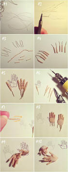 Making hands from polymer clay by aneemal
