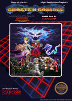 ghosts n goblins nes cover by tonatello