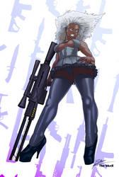 Asha The Girl With the Railgun by thebbsrx