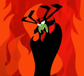 Aku in his Lair by Rexart35