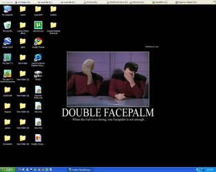 Double facepalm by Laurie4000