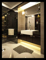 Sleek and Simple Bathroom by r3ynard