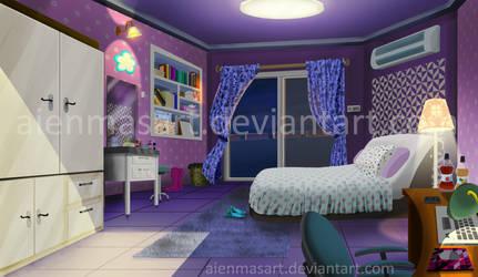 BG bedroom by AienmasArt